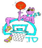 Sabra Dog - Basketball (Menorah)